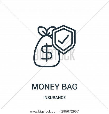 Money Bag Icon Isolated On White Background From Insurance Collection. Money Bag Icon Trendy And Mod