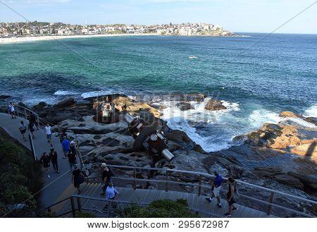 Sydney, Australia - Oct 23, 2018. Lv Pinchang: Space Plan. Sculpture By The Sea Along The Bondi To C
