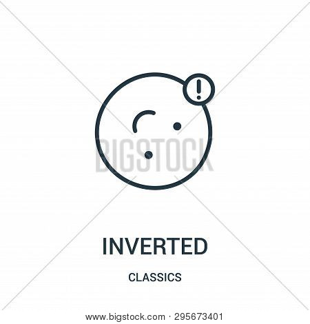 Inverted Icon Isolated On White Background From Classics Collection. Inverted Icon Trendy And Modern