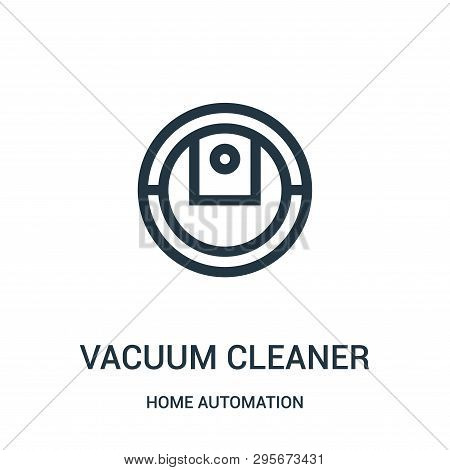 Vacuum Cleaner Icon Isolated On White Background From Home Automation Collection. Vacuum Cleaner Ico