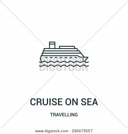 Cruise On Sea Icon Isolated On White Background From Travelling Collection. Cruise On Sea Icon Trend