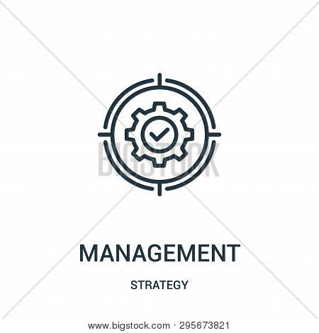 Management Icon Isolated On White Background From Strategy Collection. Management Icon Trendy And Mo