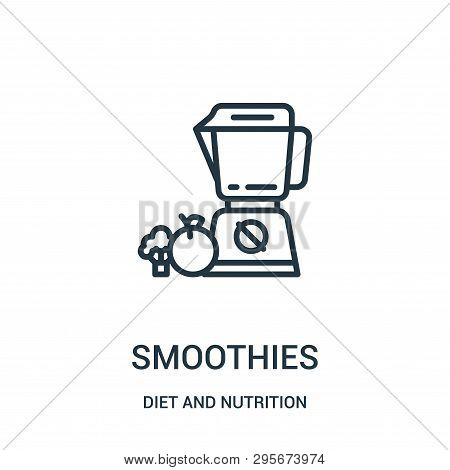 Smoothies Icon Isolated On White Background From Diet And Nutrition Collection. Smoothies Icon Trend