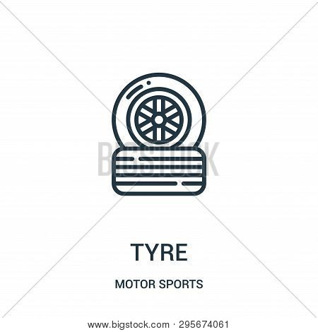 Tyre Icon Isolated On White Background From Motor Sports Collection. Tyre Icon Trendy And Modern Tyr