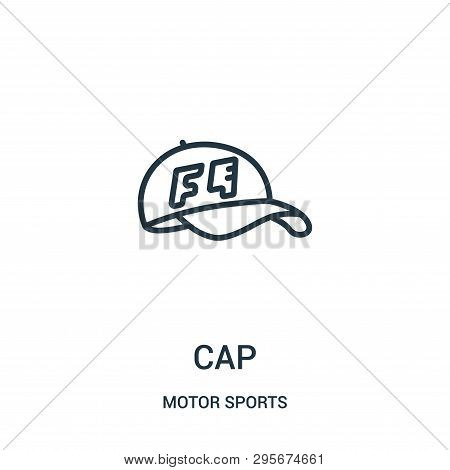 Cap Icon Isolated On White Background From Motor Sports Collection. Cap Icon Trendy And Modern Cap S