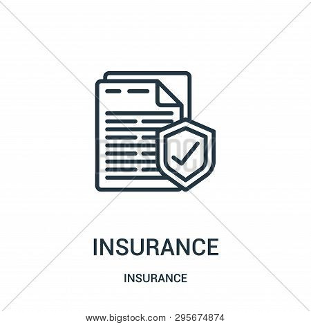 Insurance Icon Isolated On White Background From Insurance Collection. Insurance Icon Trendy And Mod