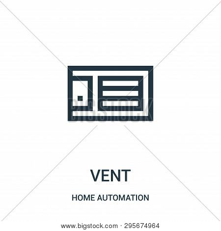 Vent Icon Isolated On White Background From Home Automation Collection. Vent Icon Trendy And Modern