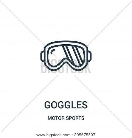 Goggles Icon Isolated On White Background From Motor Sports Collection. Goggles Icon Trendy And Mode