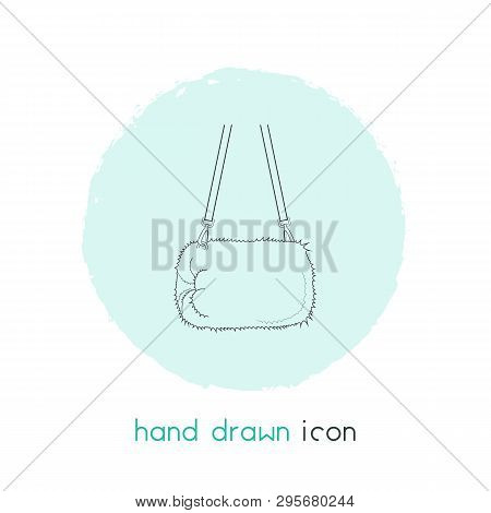 Muff Bag Icon Line Element. Vector Illustration Of Muff Bag Icon Line Isolated On Clean Background F