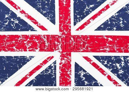 Close Up Of British Flag Pattern Illustration