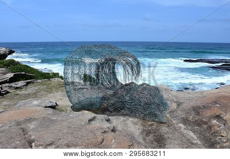 Sydney, Australia - Nov 4, 2018. Sandra Pitkin: Wave Within. Sculpture By The Sea Along The Bondi To