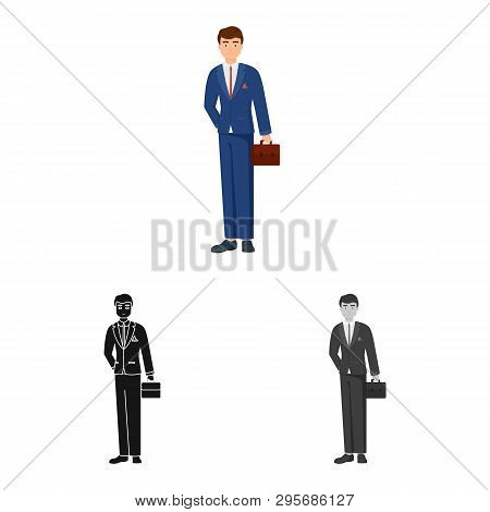 Isolated Object Of Man  And Business Icon. Collection Of Man  And Businessperson  Vector Icon For St