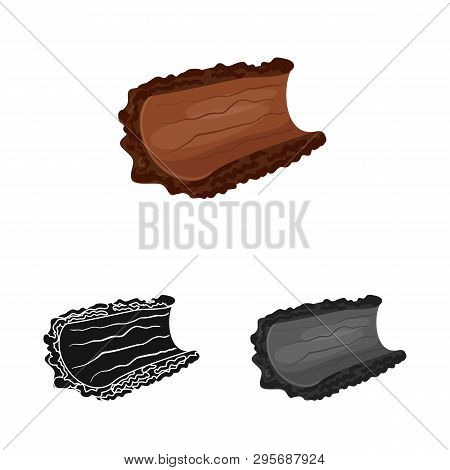 Vector Illustration Of Bark  And Piece Logo. Collection Of Bark  And Lumber  Stock Symbol For Web.