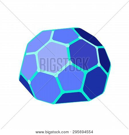 Hexagonal Geodesic Dome. Vector Isometric Icon. Design Element For Games, Apps, Websites, Maps Etc.