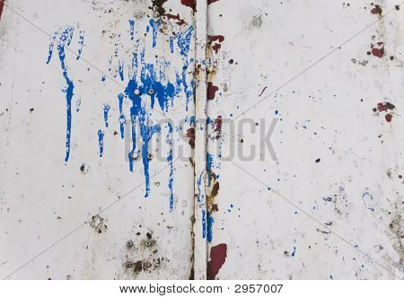 Grungy Metal Texture With Paint Splash On It