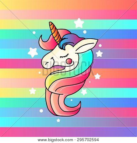 Cute Unicorn Vector Graphic Design. Cartoon Unicorn. Unicorn
