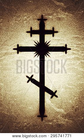 The Greek-catholic Orthodox Eight-pointed Cross. Christian Symbol Of The Faith, Redemption And Absol