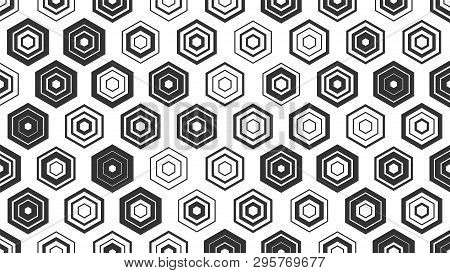Creative abstract design, vector illustration from random repetitive rectangles poster