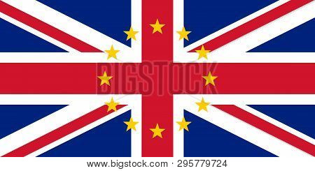 Brexit Vector Illustration Made Of Uk And Eu Flags