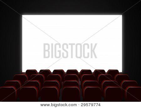 cinema seats with screen