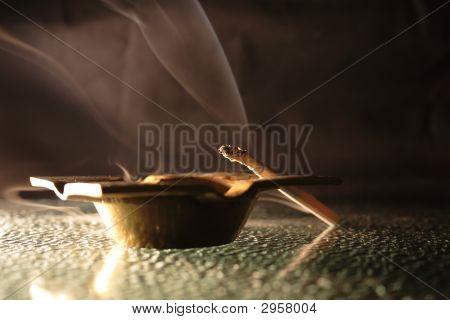 Ash-Tray And Cigarette
