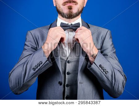 Formal Suit Jacket Close Up. Male Fashion And Aesthetic. Businessman Formal Outfit. Classic Style Ae