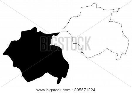 Constantine Province (provinces Of Algeria, Peoples Democratic Republic Of Algeria) Map Vector Illus