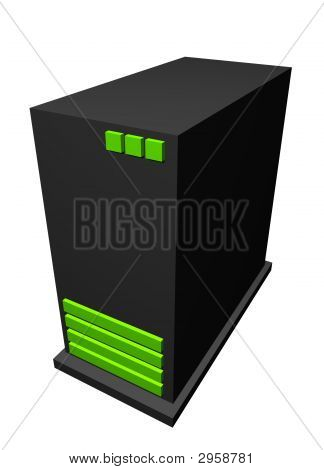 Server - Business Technology Clip Art Isolated