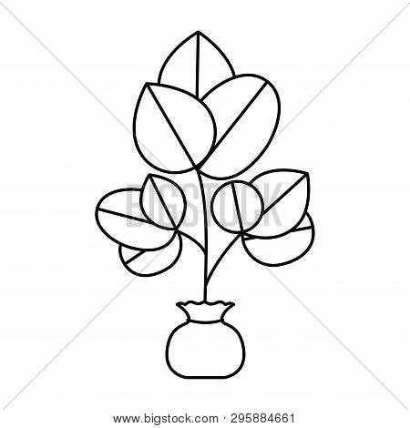 Cute Tree Plant With Earth Isolated Icon Vector Illustration Design