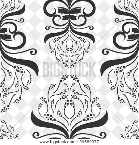 Seamless decorative flower pattern.