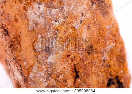 Sphalerite Mineral Stone Close-up On A White Background Close-up