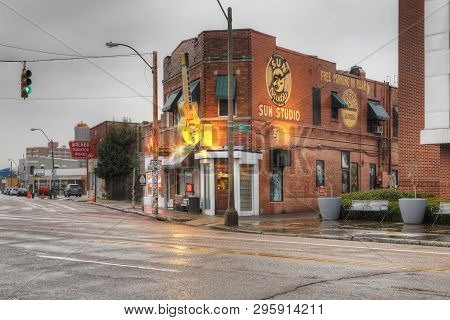 Memphis, Tennessee/united States - January 15, 2019: Sun Studio In Memphis, Tennessee. Opened As A R