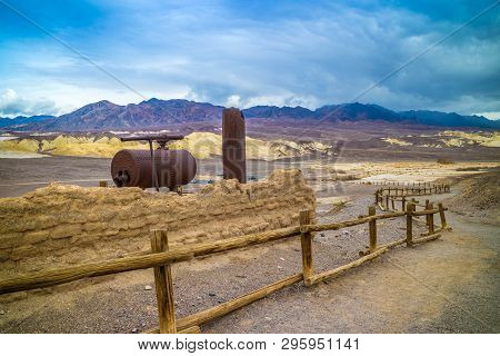 A Large Wagon In Death Valley National Park, California