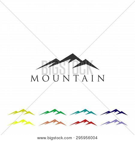 Mountain Logo Icon Vector Template, Minimalist And Simple Logo