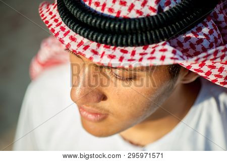 Happy arabic boy