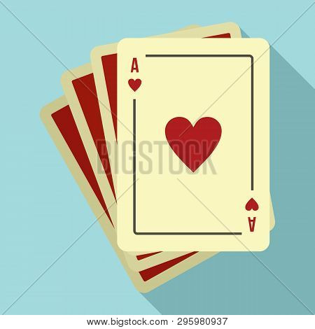 Play Fortune Cards Icon. Flat Illustration Of Play Fortune Cards Vector Icon For Web Design