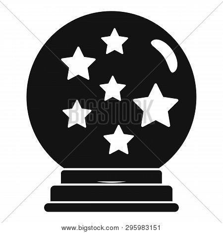 Magic Star Ball Glass Icon. Simple Illustration Of Magic Star Ball Glass Vector Icon For Web Design