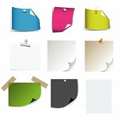 Vector - Big collection of paper message set with drop shadow and very detailed. poster