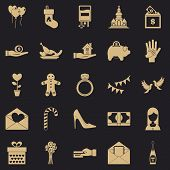 Bounty icons set. Simple set of 25 bounty vector icons for web for any design poster