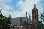 A cathedral on the campus in syracuse new york poster