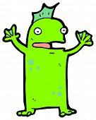 happy swamp monster cartoon (raster version) poster