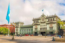 Guatemala City,guatemala - March 2,2019 - At The Place Of Constitucion In Guatemala City. Guatemala