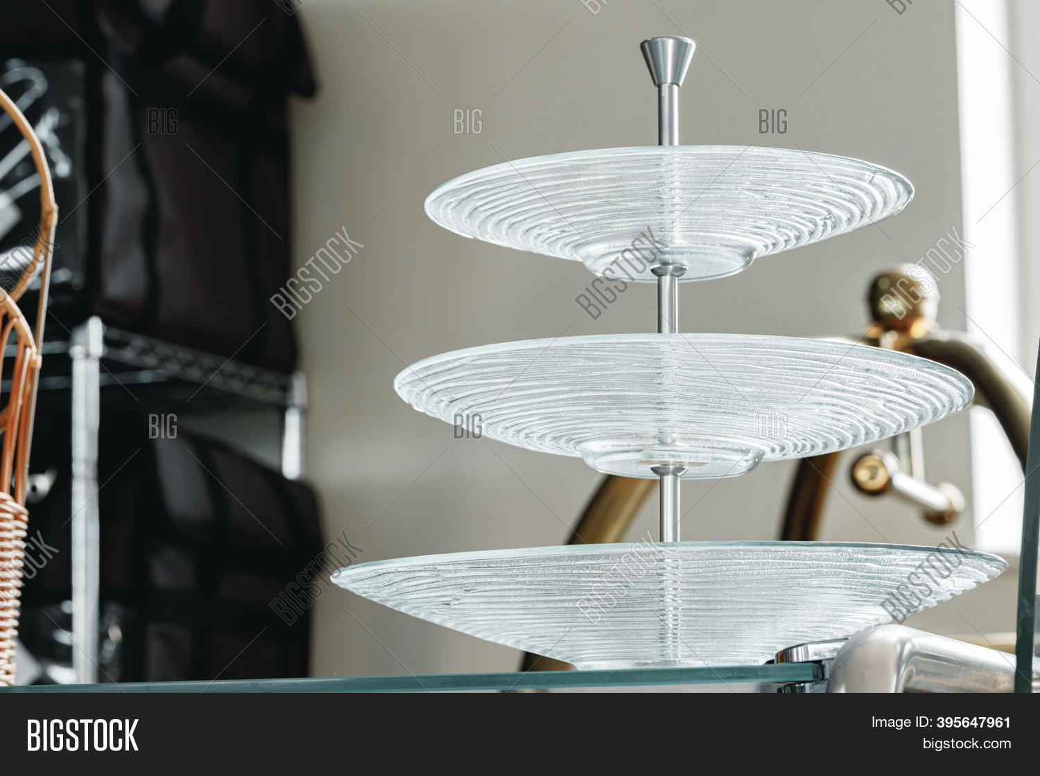 Three Tier Serving Image Photo Free Trial Bigstock