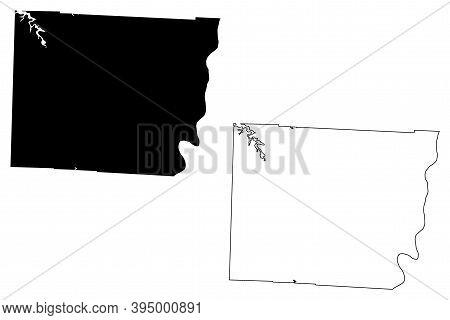 Belmont County, Ohio State (u.s. County, United States Of America, Usa, U.s., Us) Map Vector Illustr