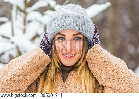 Portrait Of A Beautiful Woman With Braces On Teeth. Smiling Girl With Dental Braces. Happy Smiling W