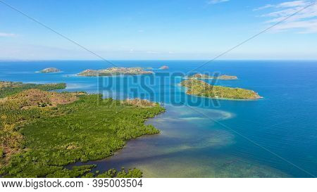 Islands With A Sandy Beaches And Azure Water. Lambang Island, Buguias Island. Zamboanga, Mindanao, P
