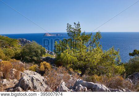 Lycian Way, Walking In Lycian Way. Lycian Way Trail. Hiking In Nature.
