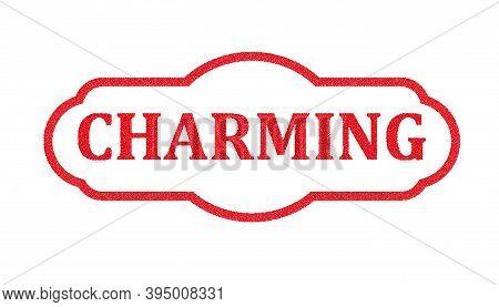 Red Charm Distress Grunge Style Stamp Esp