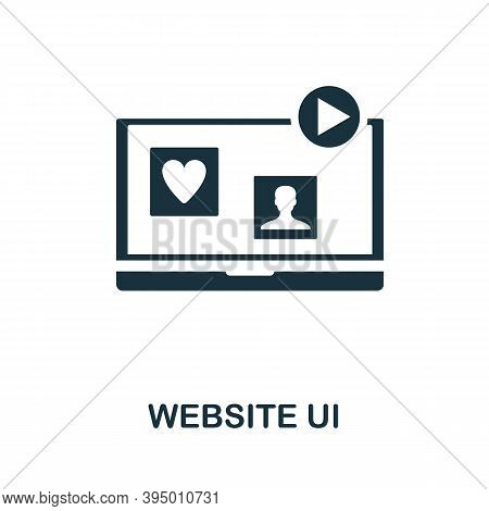Website Ui Icon. Simple Element From Website Development Collection. Filled Website Ui Icon For Temp