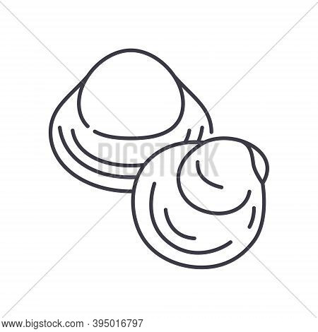 Clam Icon, Linear Isolated Illustration, Thin Line Vector, Web Design Sign, Outline Concept Symbol W